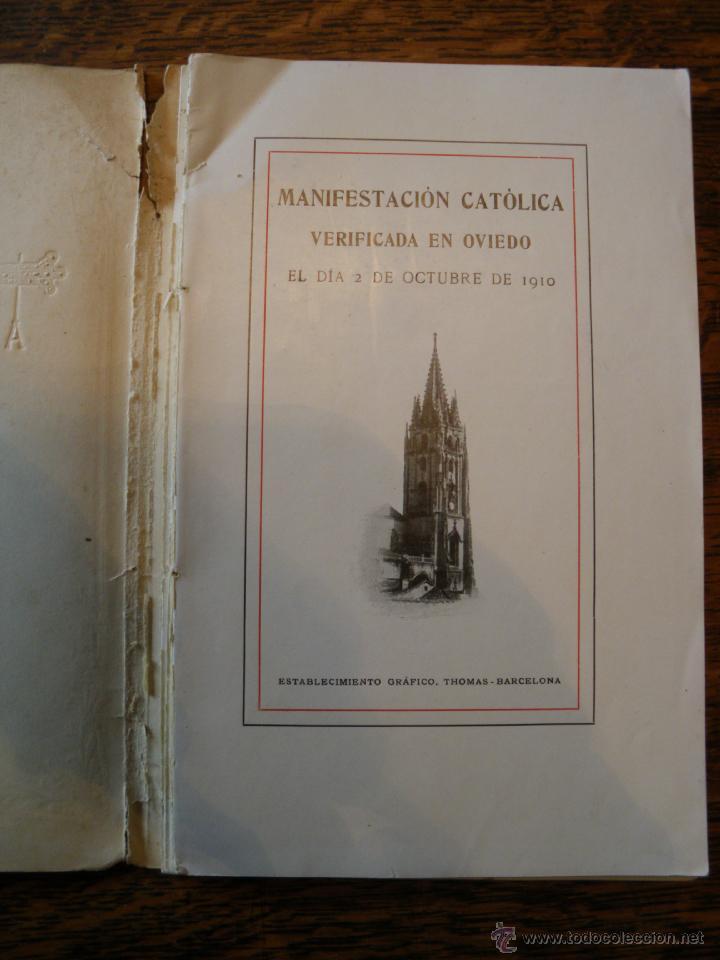 Libros antiguos: JUNTA CATOLICA DEL PRINCIPADO DE ASTURIAS. - Foto 3 - 40080960
