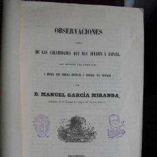 Libros antiguos: 1853 OBSERVACIONES SOBRE LAS CALAMIDADES QUE MÁS AFLIJEN ( SIC) A ESPAÑA LIBRO ÚNICO. Lote 40082562