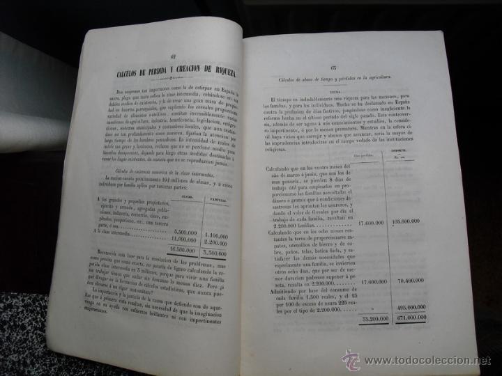 Libros antiguos: 1853 OBSERVACIONES SOBRE LAS CALAMIDADES QUE MÁS AFLIJEN ( SIC) A ESPAÑA LIBRO ÚNICO - Foto 2 - 40082562