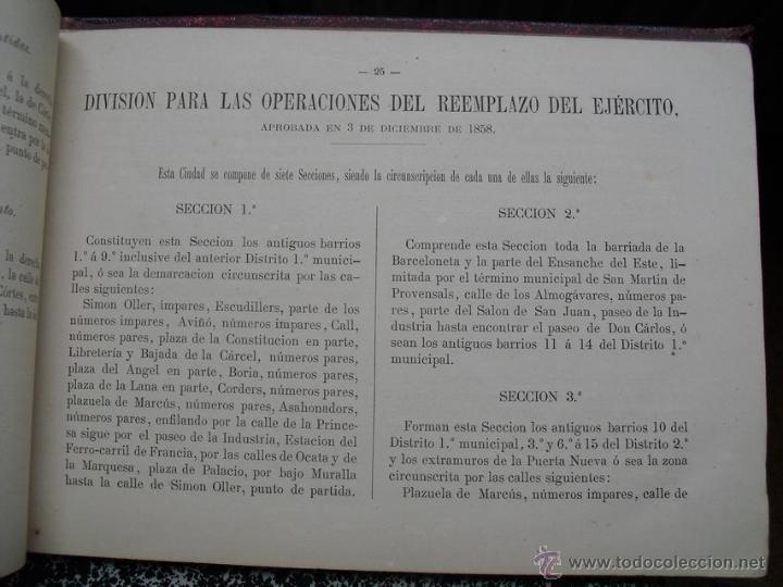 Libros antiguos: 1879 GUIA DE LAS DIVISIONES DE BARCELONA EDICIÓN DE 1500 EJEMPLARES NO EN BNAL - Foto 3 - 40083065