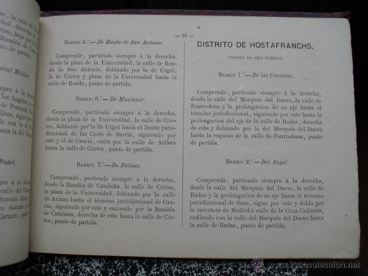 Libros antiguos: 1879 GUIA DE LAS DIVISIONES DE BARCELONA EDICIÓN DE 1500 EJEMPLARES NO EN BNAL - Foto 4 - 40083065