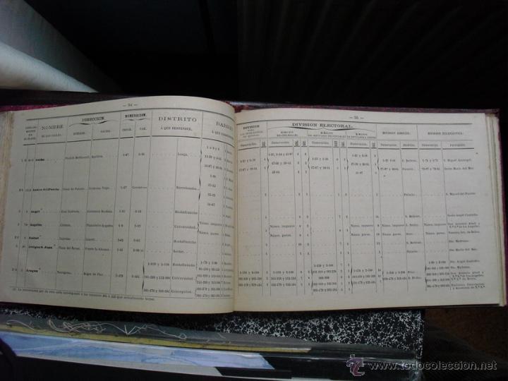 Libros antiguos: 1879 GUIA DE LAS DIVISIONES DE BARCELONA EDICIÓN DE 1500 EJEMPLARES NO EN BNAL - Foto 5 - 40083065