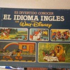 Libros antiguos: WALT DISNEY - EL IDIOMA INGLÉS ILUSTRACIONES PACO Y MIGUEL ANGEL CAPDEVILA. Lote 40172482