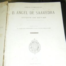 Libros antiguos: OBRAS COMPLETAS DE ANGEL DE SAAVEDRA DUQUE DE RIVAS. BARCELONA, 1885. LEER. Lote 40174909