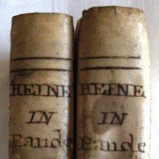 Libros antiguos: GOTTLIEB. HEINECCII ELEMENTA JURIS CIVILIS 1791 EN PERGAMINO. Lote 40181628