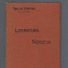 Libros antiguos: TODAS LAS LITERATURAS, LITERATURA NORUEGA, MADRID, LA ESPAÑA EDITORIAL, 110PÁGS, 19X13CM. Lote 40205609