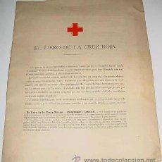 Libros antiguos: LIBRO DE LA CRUZ ROJA 1898 . MIDE 30 X 24 CMS.- 16 PAGINAS - ILUSTRACIONES. Lote 38239390