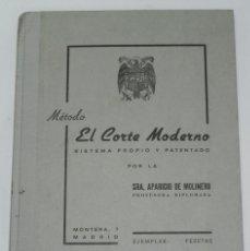 Libros antiguos: ANTIGUO LIBRO METODO EL CORTE MODERNO - SRA. APARICIO DE MOLINERO - - EL CORTE MODERNO S. Lote 38287569