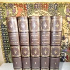 Libros antiguos: HISTOIRE DE FRANCE.-(5TOMOS OBRA COMPLETA).- ANQUETIL./ DE NORVINS. Lote 40408950