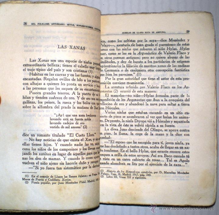Libros antiguos: AURELIO DE LLANO: DEL FOLKLORE ASTURIANO. Mitos, supersticiones, costumbres. 1922.(Dedicado y firma) - Foto 3 - 40485660