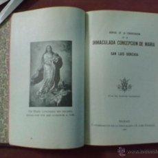 Libros antiguos: MANUAL DE LA CONGREGACION DE LA INMACULADA CONCEPCION DE MARIA Y SAN LUIS GONZAGA.BILBAO 1924. Lote 40521201