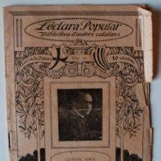 """Libros antiguos: BIBLIOTECA D'AUTORS CATALANS """"POESIES"""" DEL ESCRITOR DE CAMPANET, LLORENÇ RIBER . Lote 40553839"""