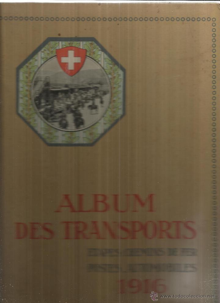 LIBRO EN FRANCÉS Y ALEMAN. ALBUM DES TRANSPORTS. ETAPES-CHEMINS DE FER. 1916 (Libros Antiguos, Raros y Curiosos - Otros Idiomas)