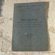 Libros antiguos: LIBRO MEMORIA COOPERATIVA DE FUNCIONARIOS CIVILES DE VALENCIA 1922 L-5536. Lote 40606216