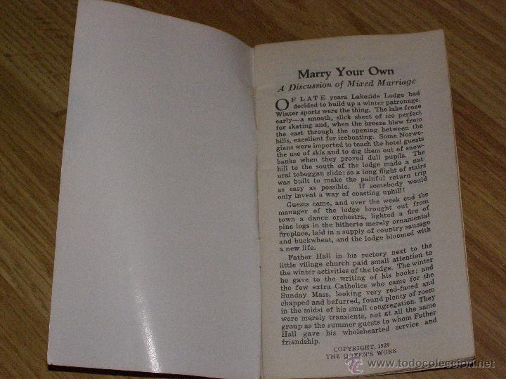 Libros antiguos: Curioso Librillo de 1929 - Marry your own - - Foto 2 - 40623999