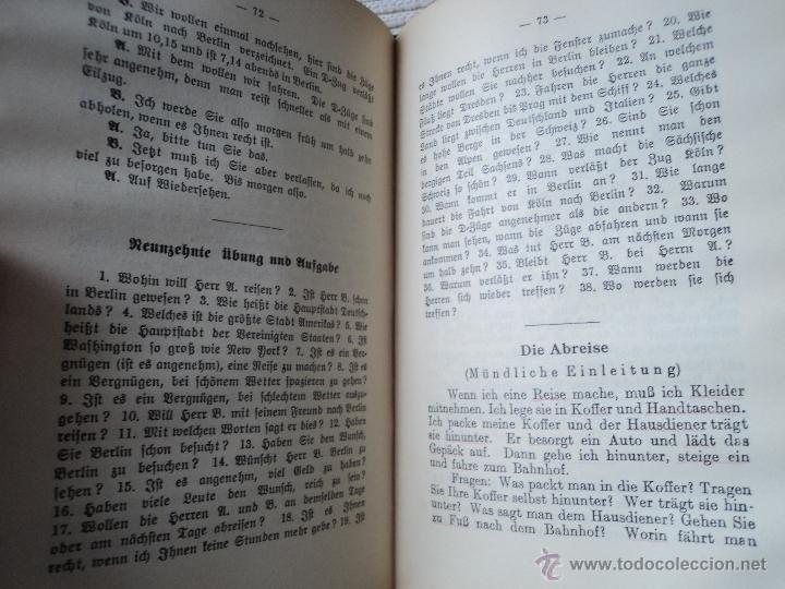 Libros antiguos: ERFTES BUCH FUR DEN UNTERRICHT IN DEN NEUREN SPRACHEN - BERLITZ - ALEMAN - Foto 2 - 40678636