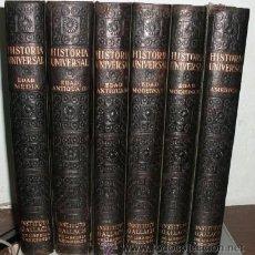 Libros antiguos: HISTORIA UNIVERSAL. NOVISIMO ESTUDIO DE LA HUMANIDAD. 6 TOMOS A-H-516. Lote 40685845