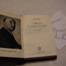 Libros antiguos: ANTIGUO LIBRO COLECCION CRISOL - OBRAS COMPLETAS III - WENCESLAO FERNANDEZ FLOREZ . Lote 40687509