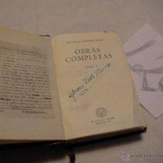 Libros antiguos: ANTIGUO LIBRO COLECCION CRISOL - OBRAS COMPLETAS V - WENCESLAO FERNANDEZ FLOREZ . Lote 40687519