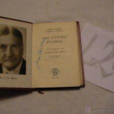 Libros antiguos: ANTIGUO LIBRO COLECCION CRISOL - LAS CUATRO PLUMAS - ALFRED EDWARD/WOODLEY MASON. Lote 40687683