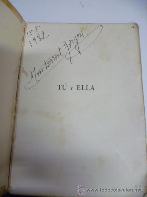 Libros antiguos: JOAQUIN AZPIAZU. TU Y ELLA. EDITORIAL RAZON Y FE. RUSTICA. 200 PAGINAS - 1930 - Foto 3 - 40702246