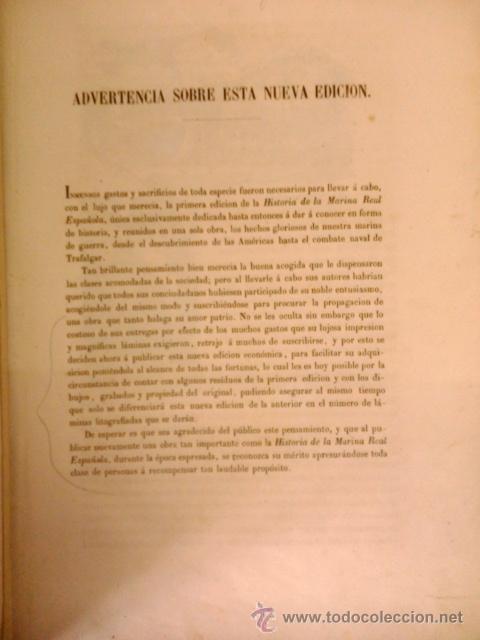 Libros antiguos: HISTORIA DE LA MARINA REAL ESPAÑOLA. D. JOSE MARCH Y LABORES 1854-1856 - Foto 3 - 40715989
