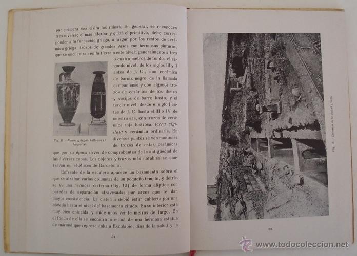 Libros antiguos: GUÍA ILUSTRADA DE LAS RUINAS DE AMPURIAS Y COSTA BRAVA CATALANA MANUEL CAZURRO - Foto 4 - 40737070