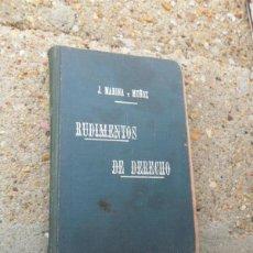 Libros antiguos: RUDIMIENTO DE DERECHO. Lote 40829723