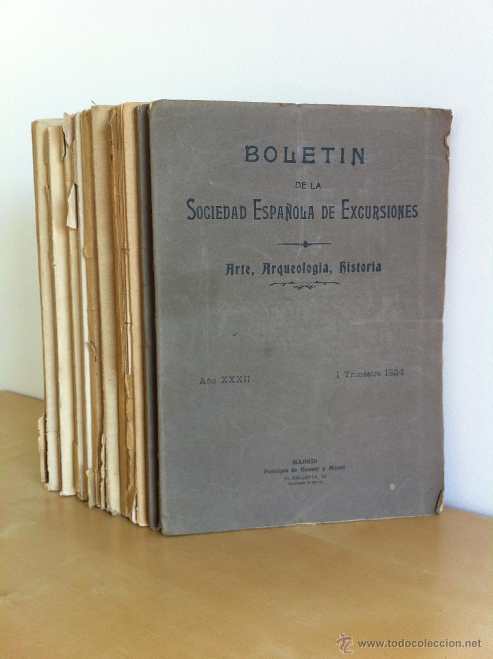 BOLETÍN DE LA SOCIEDAD ESPAÑOLA DE EXCURSIONES. 10 TOMOS. ENTRE 1924 Y 1946. HAUSER Y MENET. (Libros Antiguos, Raros y Curiosos - Bellas artes, ocio y coleccionismo - Otros)