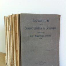 Libros antiguos: BOLETÍN DE LA SOCIEDAD ESPAÑOLA DE EXCURSIONES. 10 TOMOS. ENTRE 1924 Y 1946. HAUSER Y MENET.. Lote 40903018
