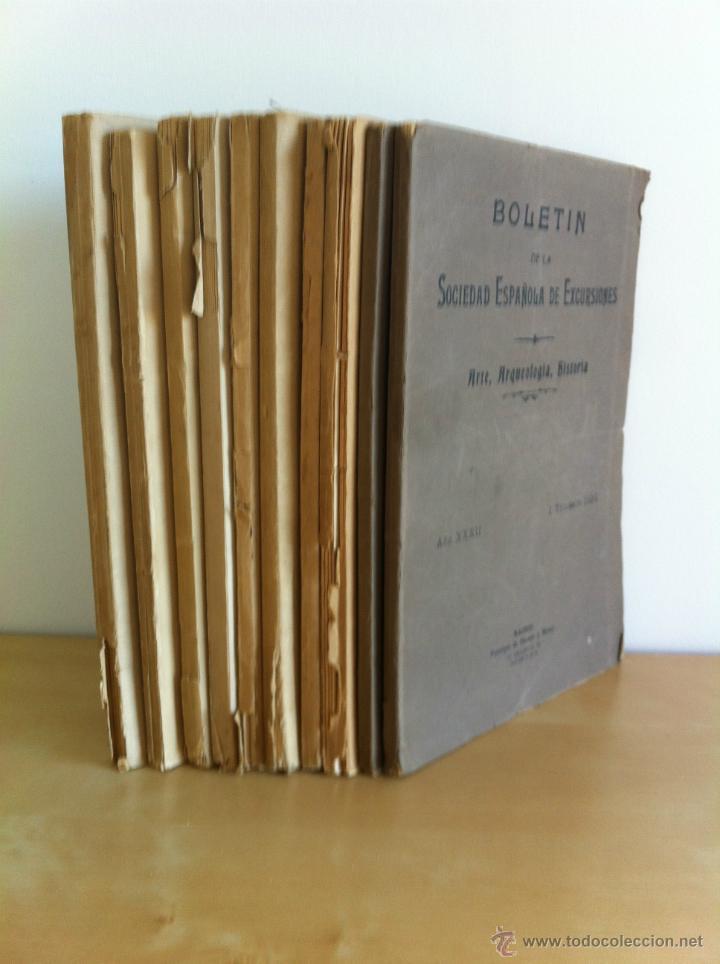 Libros antiguos: BOLETÍN DE LA SOCIEDAD ESPAÑOLA DE EXCURSIONES. 10 TOMOS. ENTRE 1924 Y 1946. HAUSER Y MENET. - Foto 2 - 40903018