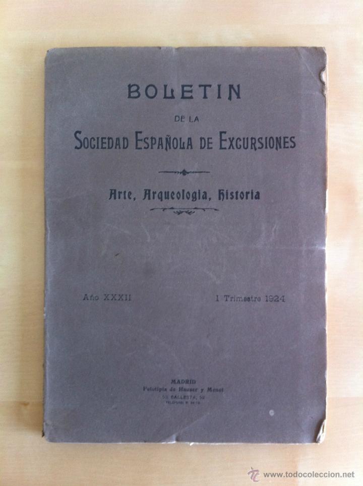 Libros antiguos: BOLETÍN DE LA SOCIEDAD ESPAÑOLA DE EXCURSIONES. 10 TOMOS. ENTRE 1924 Y 1946. HAUSER Y MENET. - Foto 5 - 40903018