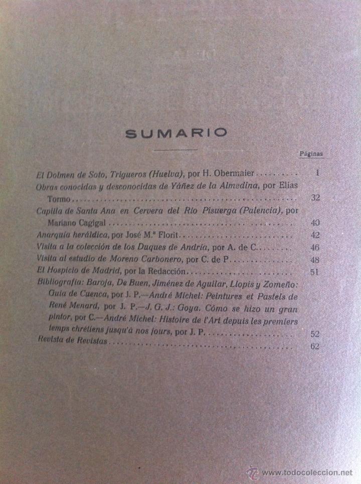 Libros antiguos: BOLETÍN DE LA SOCIEDAD ESPAÑOLA DE EXCURSIONES. 10 TOMOS. ENTRE 1924 Y 1946. HAUSER Y MENET. - Foto 6 - 40903018