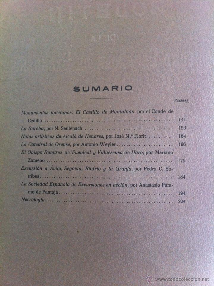 Libros antiguos: BOLETÍN DE LA SOCIEDAD ESPAÑOLA DE EXCURSIONES. 10 TOMOS. ENTRE 1924 Y 1946. HAUSER Y MENET. - Foto 16 - 40903018