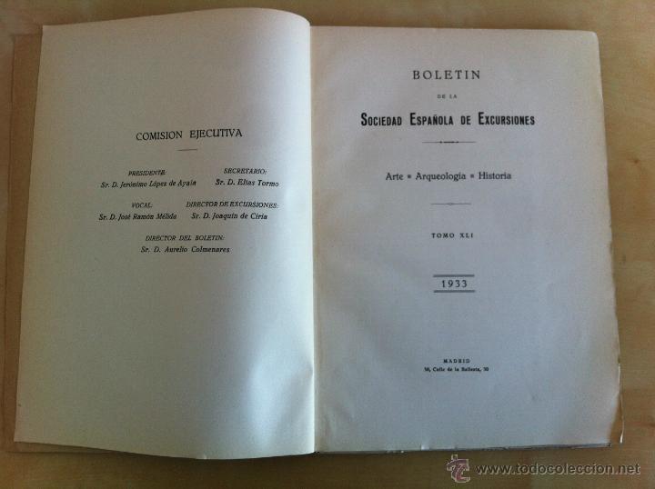 Libros antiguos: BOLETÍN DE LA SOCIEDAD ESPAÑOLA DE EXCURSIONES. 10 TOMOS. ENTRE 1924 Y 1946. HAUSER Y MENET. - Foto 25 - 40903018