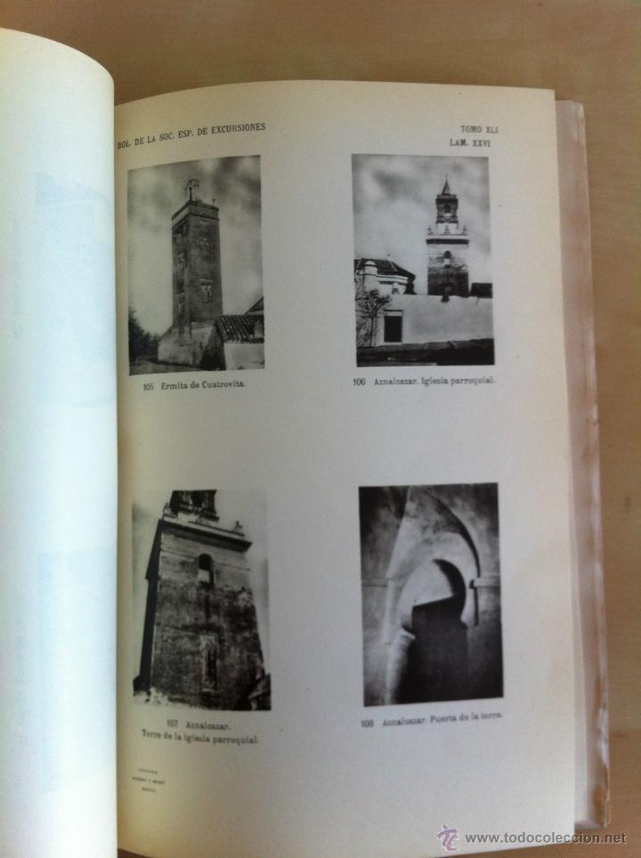 Libros antiguos: BOLETÍN DE LA SOCIEDAD ESPAÑOLA DE EXCURSIONES. 10 TOMOS. ENTRE 1924 Y 1946. HAUSER Y MENET. - Foto 27 - 40903018