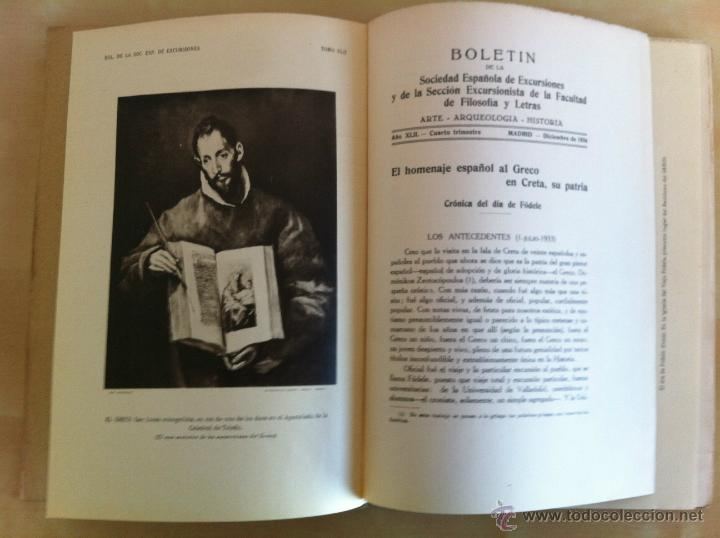 Libros antiguos: BOLETÍN DE LA SOCIEDAD ESPAÑOLA DE EXCURSIONES. 10 TOMOS. ENTRE 1924 Y 1946. HAUSER Y MENET. - Foto 30 - 40903018