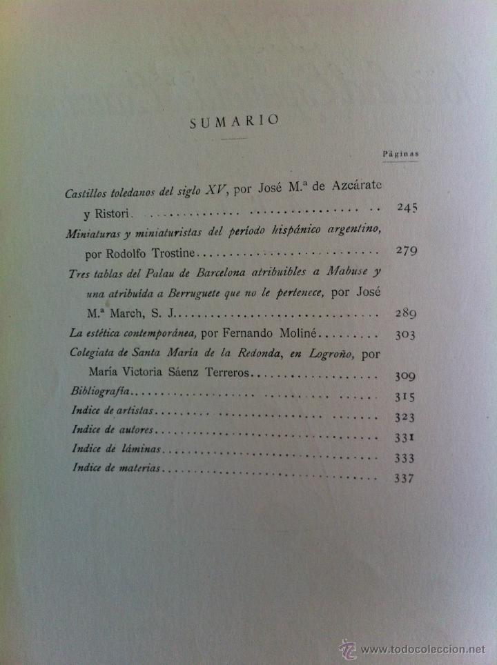 Libros antiguos: BOLETÍN DE LA SOCIEDAD ESPAÑOLA DE EXCURSIONES. 10 TOMOS. ENTRE 1924 Y 1946. HAUSER Y MENET. - Foto 42 - 40903018