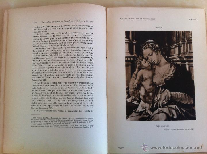 Libros antiguos: BOLETÍN DE LA SOCIEDAD ESPAÑOLA DE EXCURSIONES. 10 TOMOS. ENTRE 1924 Y 1946. HAUSER Y MENET. - Foto 44 - 40903018