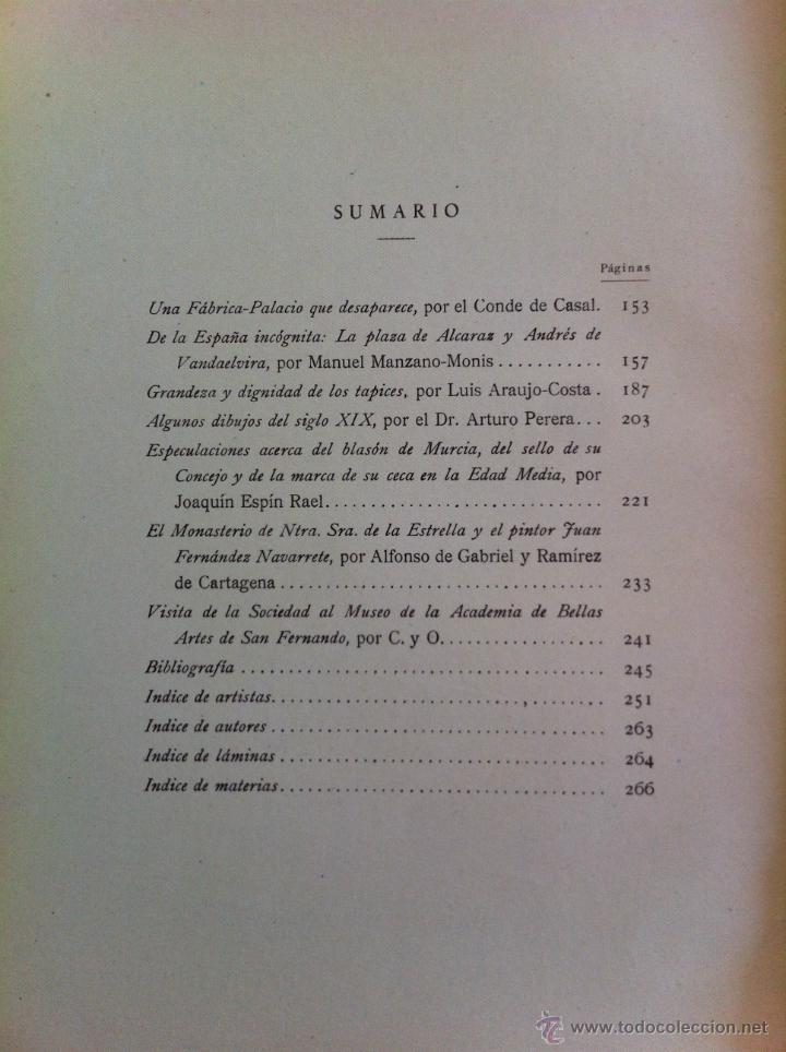 Libros antiguos: BOLETÍN DE LA SOCIEDAD ESPAÑOLA DE EXCURSIONES. 10 TOMOS. ENTRE 1924 Y 1946. HAUSER Y MENET. - Foto 50 - 40903018