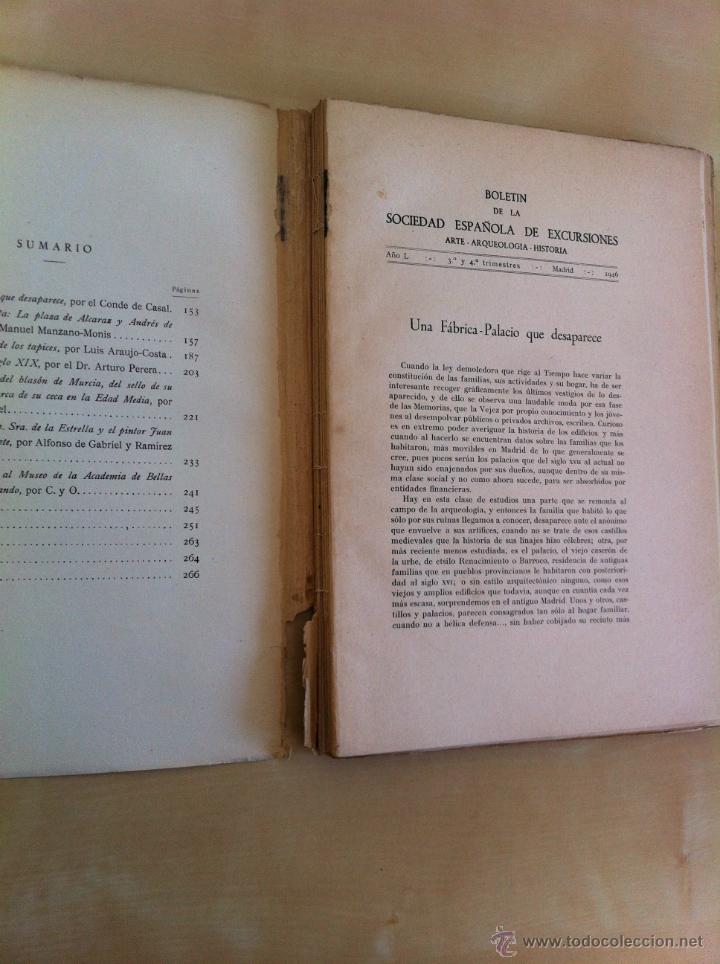 Libros antiguos: BOLETÍN DE LA SOCIEDAD ESPAÑOLA DE EXCURSIONES. 10 TOMOS. ENTRE 1924 Y 1946. HAUSER Y MENET. - Foto 51 - 40903018