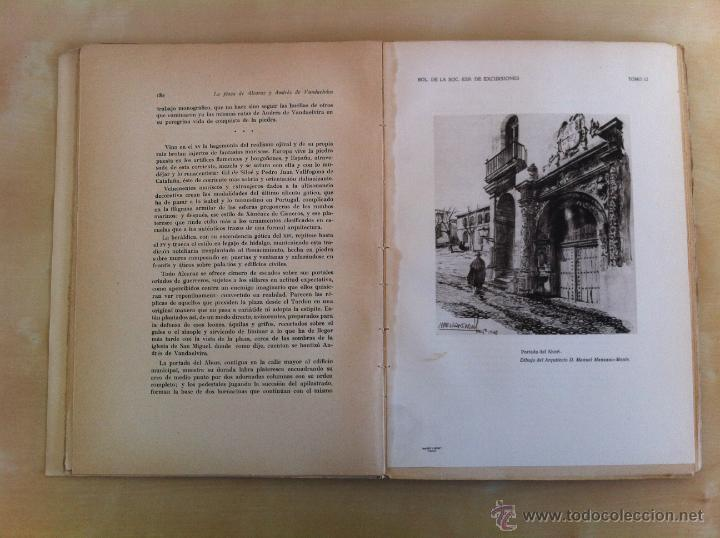 Libros antiguos: BOLETÍN DE LA SOCIEDAD ESPAÑOLA DE EXCURSIONES. 10 TOMOS. ENTRE 1924 Y 1946. HAUSER Y MENET. - Foto 53 - 40903018