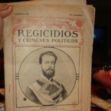 Libros antiguos: REGICIDIOS Y CRIMENES POLITICOS CUADERNO 26º. Lote 40925260