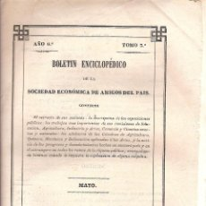 Libros antiguos: BOLETÍN ENCICLOPÉDICO DE LA SDAD. ECONÓMICA DE AMIGOS DEL PAÍS VALENCIA 1845. Lote 40981429