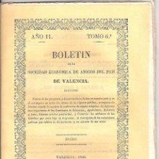 Libros antiguos: BOLETÍN SDAD. ECONÓMICA DE AMIGOS DEL PAÍS DE VALENCIA ENERO 1850. Lote 40981469