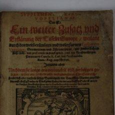 Libros antiguos: 5857 - SUPPLEMENTUM EUROPAE VOPELIANAE, GASPAREM VOPELIUM, KÖLN 1597. Lote 40986259