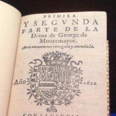 Libros antiguos: JORGE DE MONTEMAYOR. PARTE PRIMERA Y SEGUNDA DE LA DIANA. MADRID 1622. ALONSO MARTÍN. BRUGALLA.. Lote 41009950