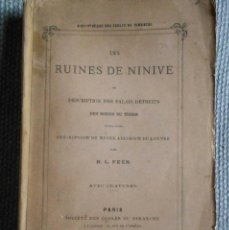 Livres anciens: 1864 - FEER - LAS RUINAS DE NINIVE - MUY ILUSTRADO - BELLA OBRA. Lote 41057198