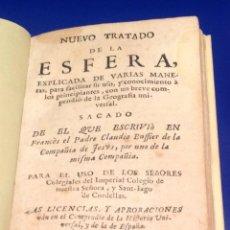 Libros antiguos: CLAUDIO BUFFIER. NUEVO TRATADO DE LA ESFERA. BARCELONA 1738. PERGAMINO.. Lote 40562162