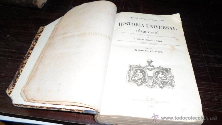 Libros antiguos: Cesar Cantu, Historia Universal, Imprenta Gaspar Roig,1866, T-IV:XII.XIII.XIV - Foto 2 - 41165411